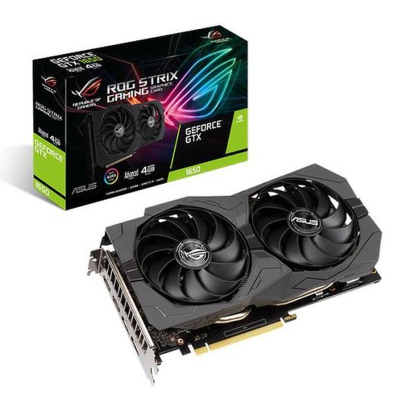 ASUS GeForce GTX 1650 ROG Strix Gaming Advanced 4 GB GDDR6 Graphics Card (ROG-STRIX-GTX1650-A4GD6-GAMING)