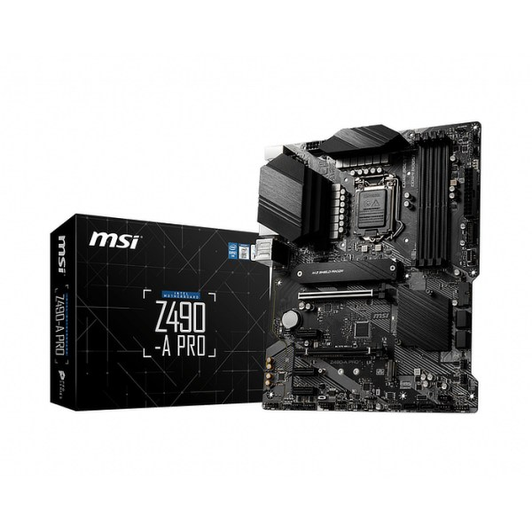 MSI Z490-A PRO LGA 1200 Intel Z490 DDR4 ATX Motherboard (Z490-A PRO)