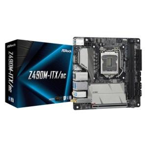 ASRock Z490M-ITX/ac LGA 1200 Intel Z490 DDR4 Mini ITX Motherboard (Z490M-ITX/AC)