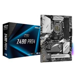 ASRock Z490 Pro4 LGA 1200 Intel Z490 DDR4 ATX Motherboard (Z490 PRO4)
