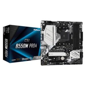 ASRock B550M Pro4 Socket AM4 AMD B550 DDR4 Micro ATX Motherboard (B550M Pro4)