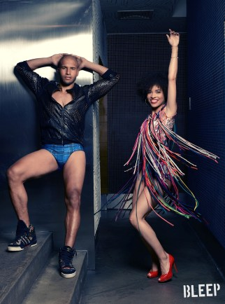 Sydney Harcourt and Sasha Hutchings (Hamilton) wearing David Dalrymple Designs