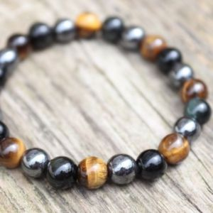 Hämatit Obsidian Tigerauge Armband