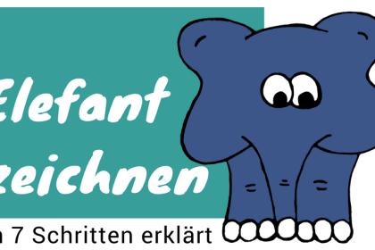 Elefant zeichnen lernen