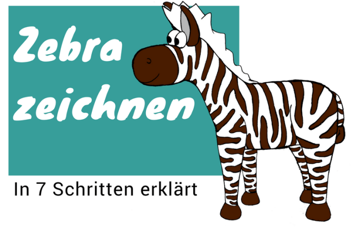 Zebra zeichnen lernen