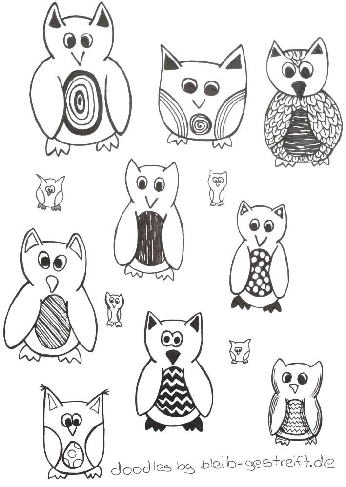 Doodles Eule. Doodles owl