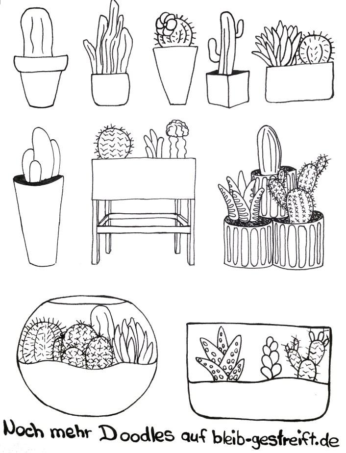 Doodles Kaktus. Doodles cactus
