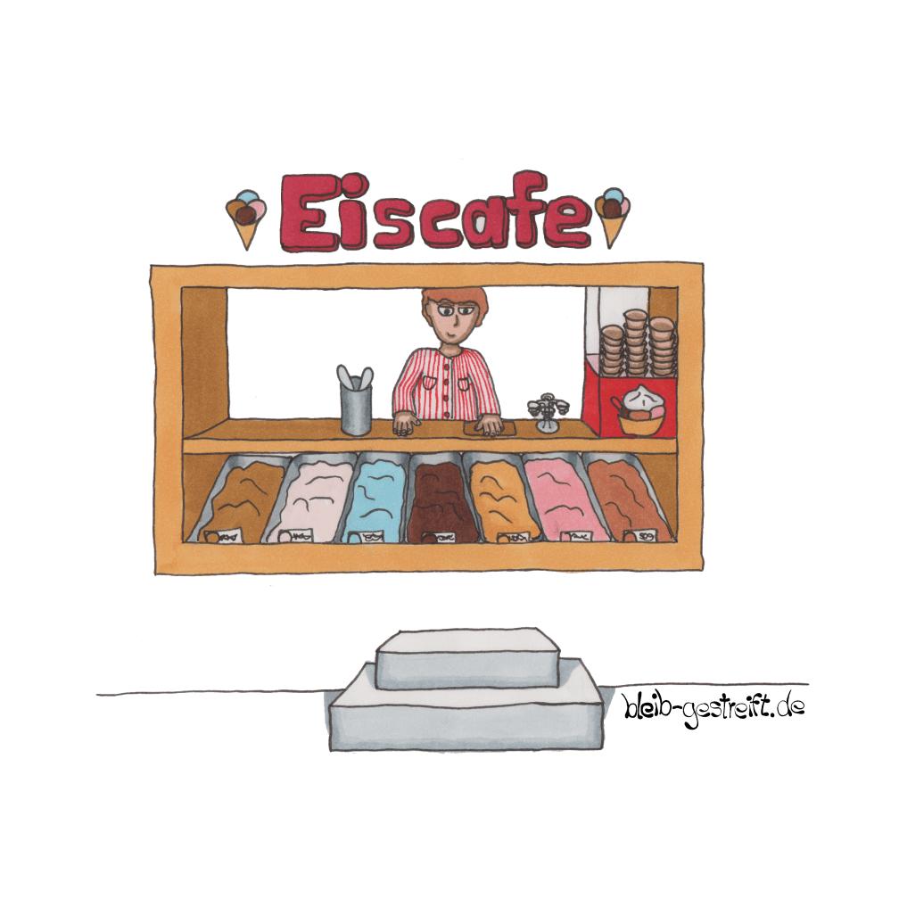 Kinderbuchillustrationen Eiscafe