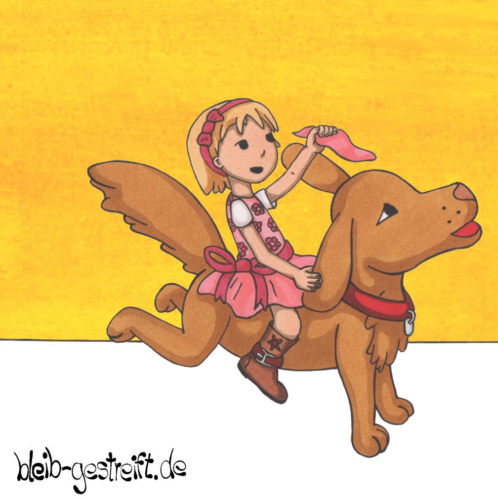 Kinderbuchillustrationen Kind mit Hund