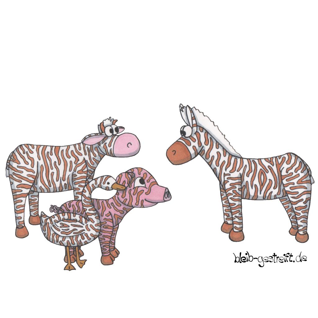 Kinderbuchillustrationen Zebrastreifen