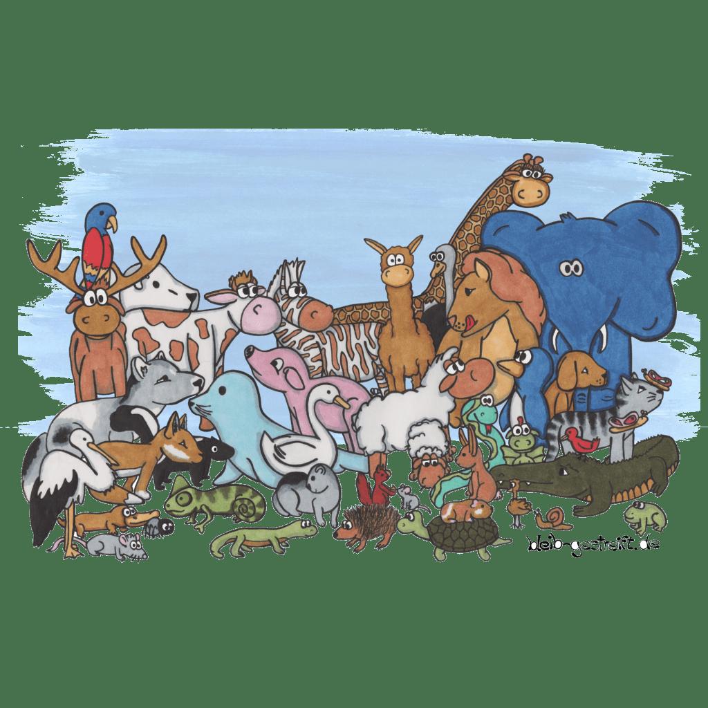Kinderbuchillustrationen Tiere zeichnen