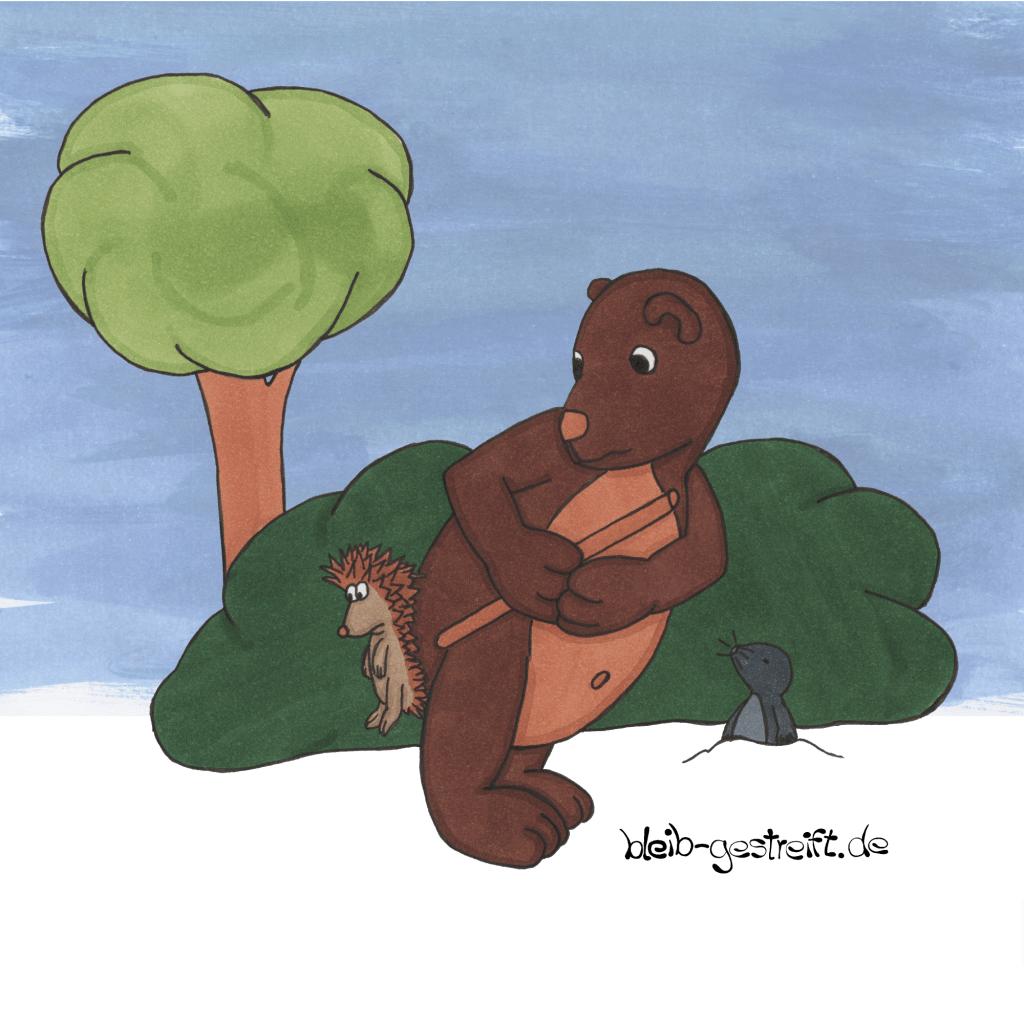 Kinderbuchillustrationen Bär und Igel
