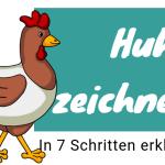 Huhn zeichnen lernen