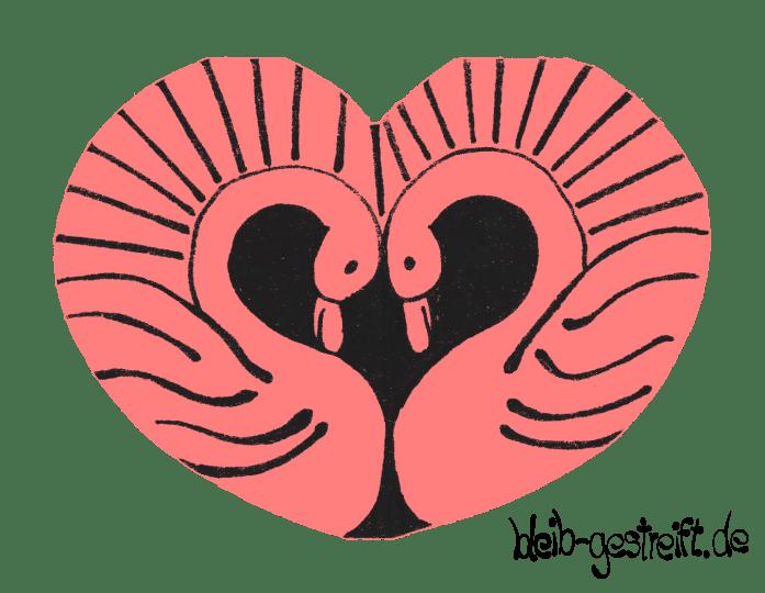 Herz: Schwäne