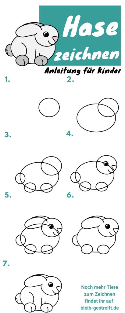 Hase zeichnen für Kinder