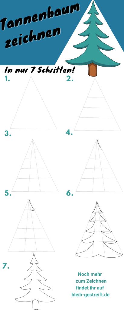 Tannenbaum zeichnen lernen