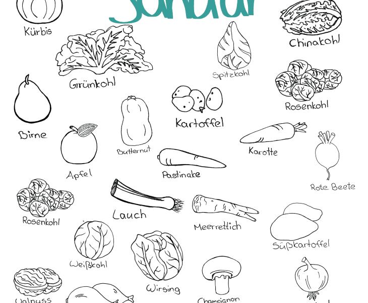 Doodle Saisonkalender Januar