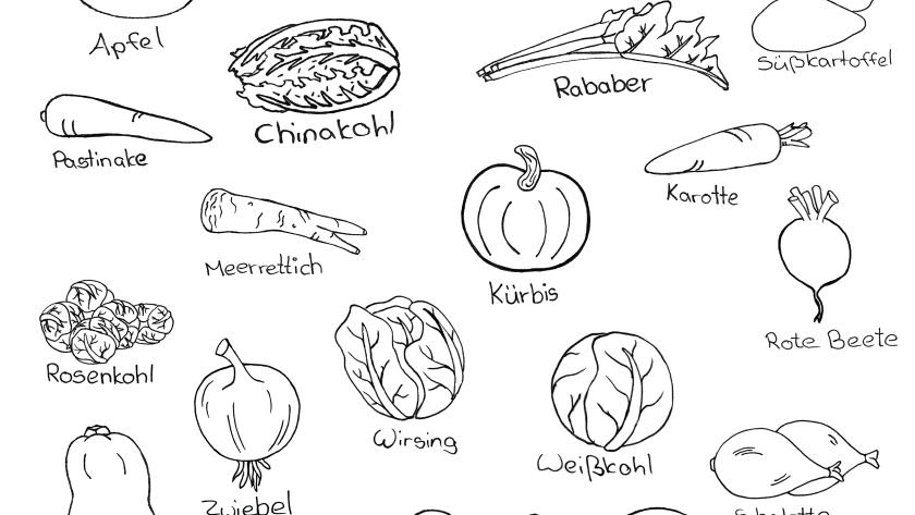 Doodle Saisonkalender März