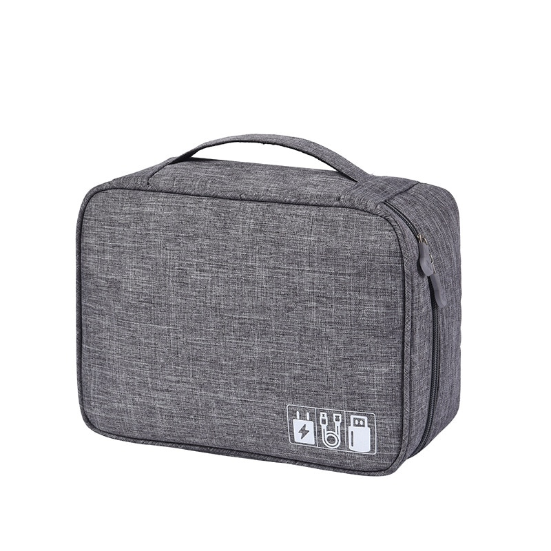 Waterproof Tech Travel Organizer Bag Grey
