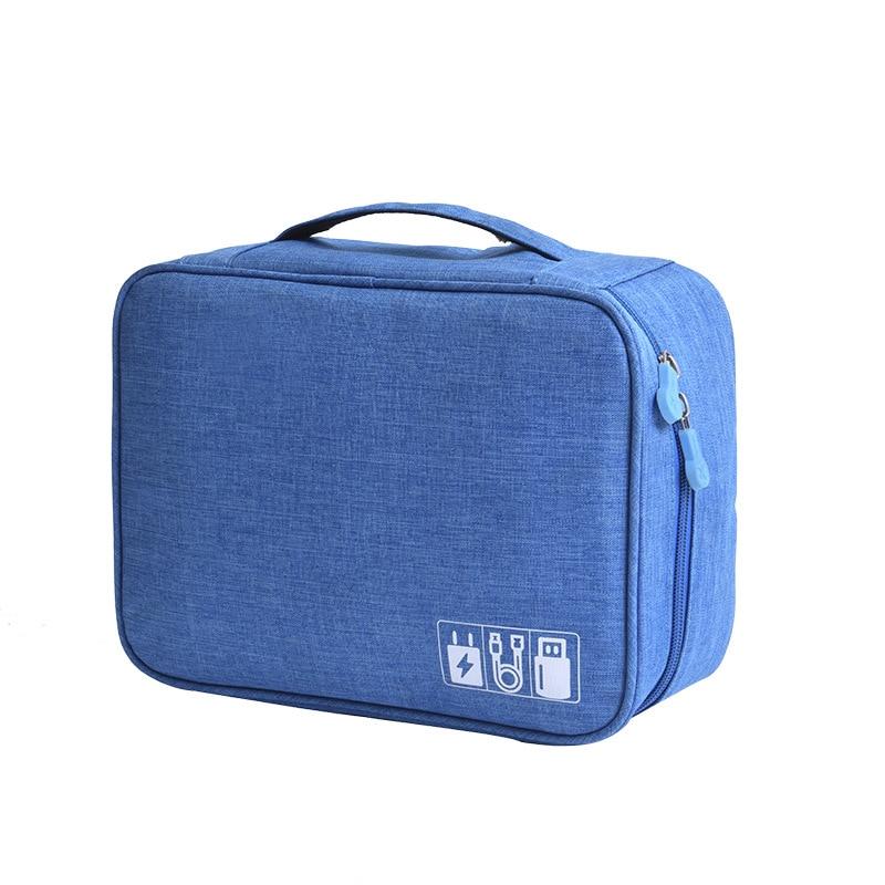 Waterproof Tech Travel Organizer Bag Blue