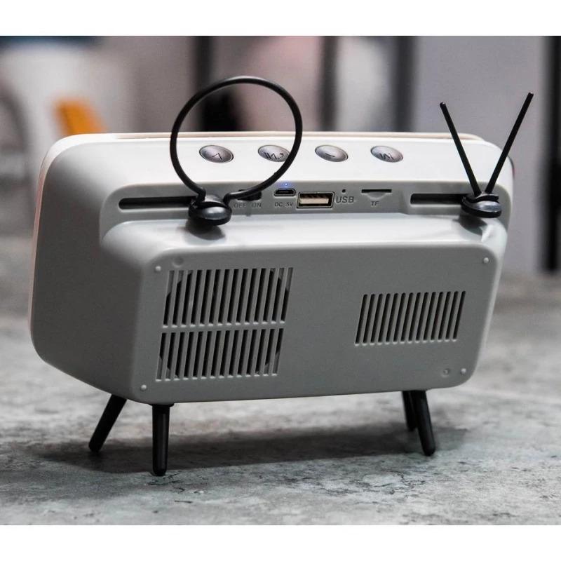 Retro Mini Wireless Speaker and Phone Holder4
