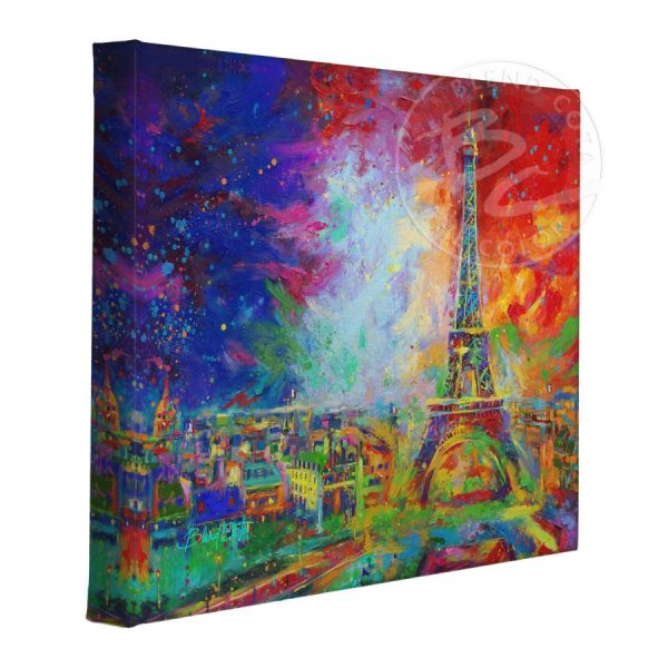 "Eiffel Tower - 11"" X 14"" Wrapped Canvas"