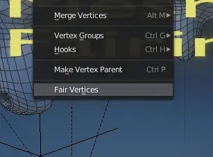 Mesh Fairing in Edit Mode