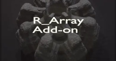R_Array Addon for Blender 2.8