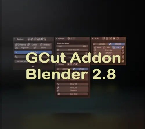 GCut Addon - Blender 2.8