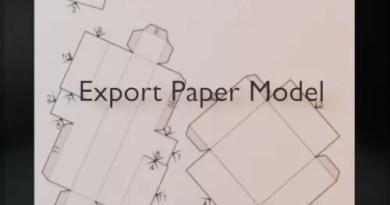 Export Paper Model Addon