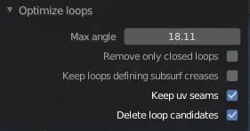 The UI of the optiloops addon
