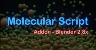Molecular Script Addon - Blender 2.8