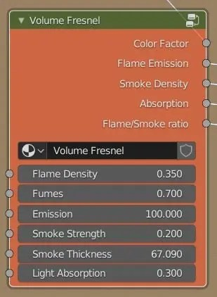 Volume Fresnel node from the Wisp Fire Shader
