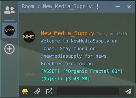 New Media Supply chatroom on Tchat