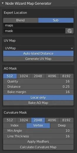 Node Wizard Map Generator UI