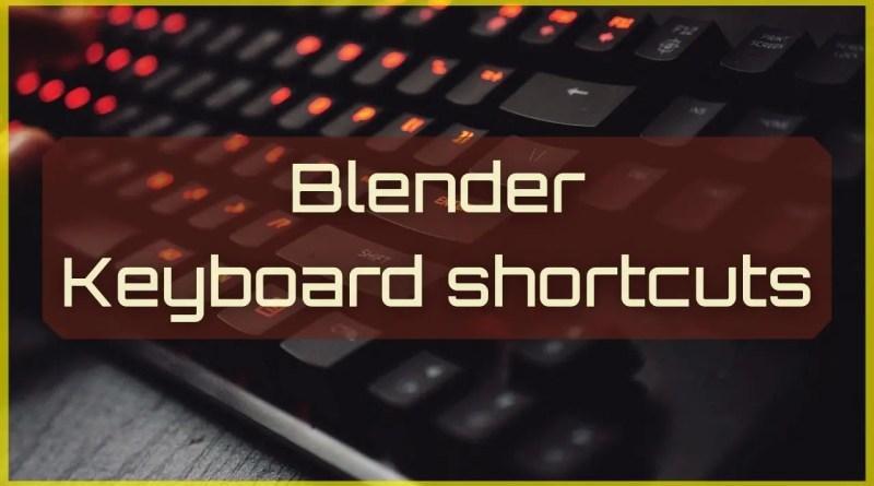 Blender Keyboard shortcuts PDF - Cover
