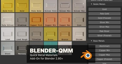 Blender QMM addon - Quick Metal Materials Cover