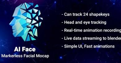 AI Face markerless motion capture