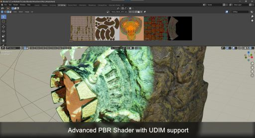 Advanced PBR Shader with UDIM support