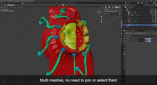 Work with separated meshes