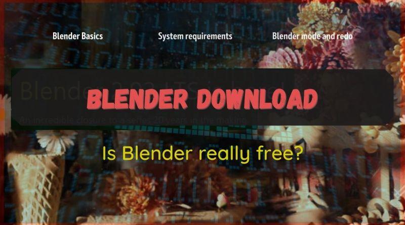 Blender download (is Blender free?) Cover