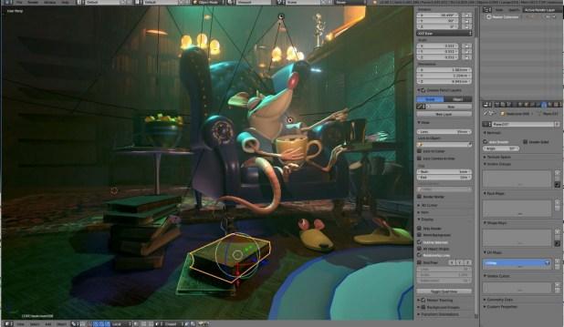 image extraite d'un film d'animation créé avec blender