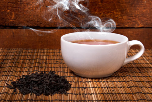tea smoke particles and