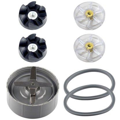 1 Extractor Blade 2 Rubber Gears 2 Motor Gears 2 Gaskets for NutriBullet NB-101