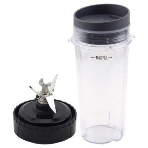 16 oz Cup with Lid and Extractor Blade Replacement Parts 303KKU 305KKU 322KKU770 for Nutri Ninja BL770 BL771 BL772 BL773CO