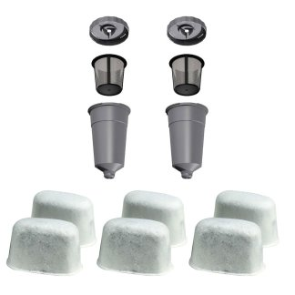 2 K-Cup Coffee Filter Set - 6 Water Filter Cartridges for Keurig