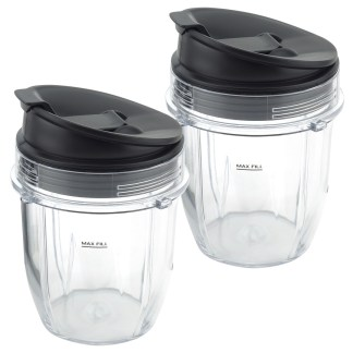 2 Pack 12 oz Cup with Sip & Seal Lid Replacement Part Compatible with Nutri Ninja Auto-iQ 426KKU450 408KKU641