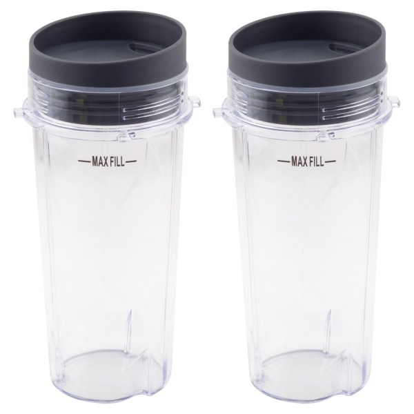 2 Pack 16 oz Cups with To-Go Lids Replacement Part Model 303KKU 305KKU for Nutri Ninja BL660 BL663 BL663CO BL740 BL780 BL810 BL820 BL830