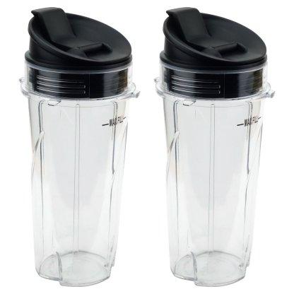 2 Pack Nutri Ninja 16 oz Cups with Sip & Seal Lids for BL660 BL660W BL740 BL810 BL820 BL830 Model 303KKU 356KKU800