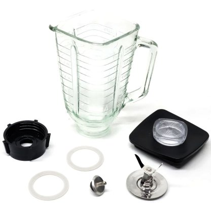 5-Cup Square Top 7-Piece Glass Jar Replacement Set for Oster